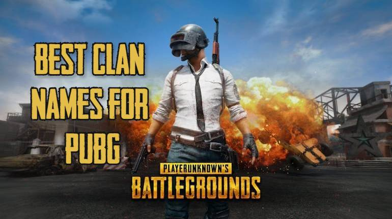 Best Clan names for PUBG