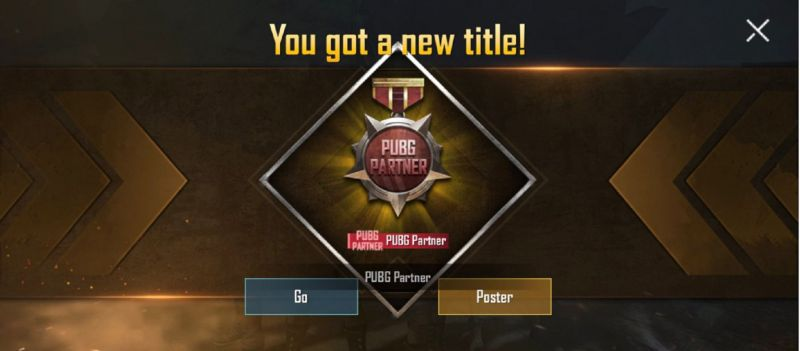 How To Get PUBG Partner Title In PUBG Mobile